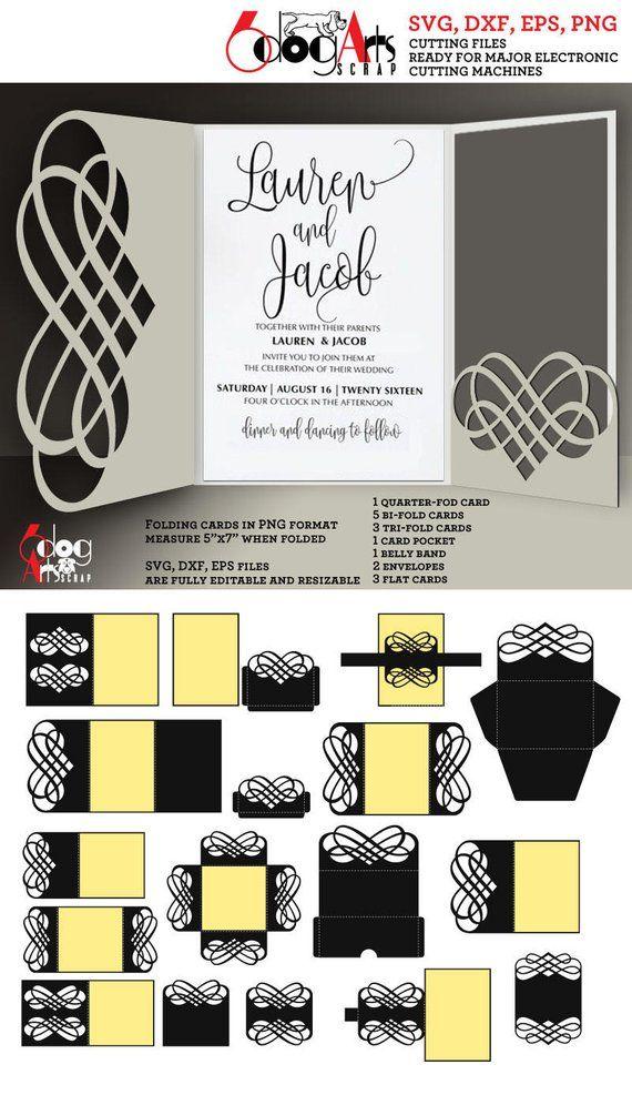 16 lace envelope card band templates digital cut svg dxf files