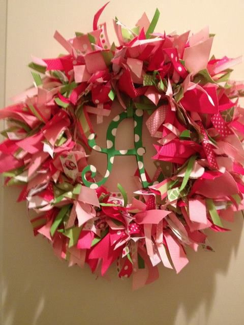 ribbon crafts ribbon wreath 1 crafts Wreathes Pinterest