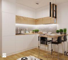 Aranzacje Wnetrz Kuchnia Mieszkanie Dabie Park Mala Otwarta Kuchnia W Ksztalcie Litery L Styl Nowoczesny Kitchen Interior Kitchen Design Small Kitchen