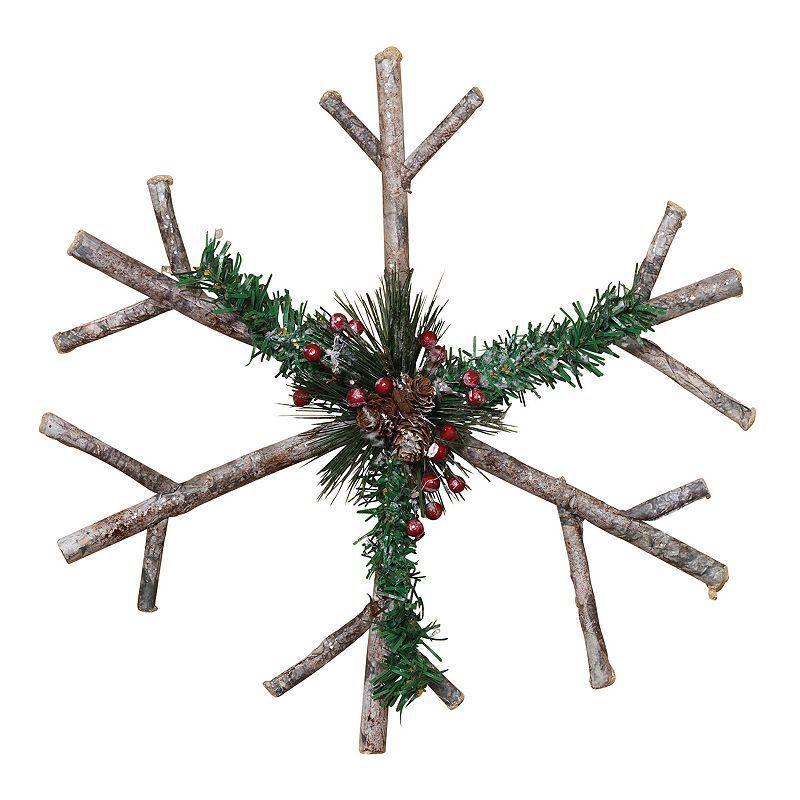 "Photo of 15"" Winter Lodge Snowflake Christmas Decor"