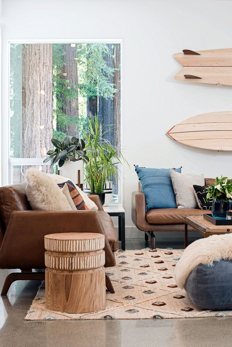 Coastal living // modern earthy boho coastal decor ...