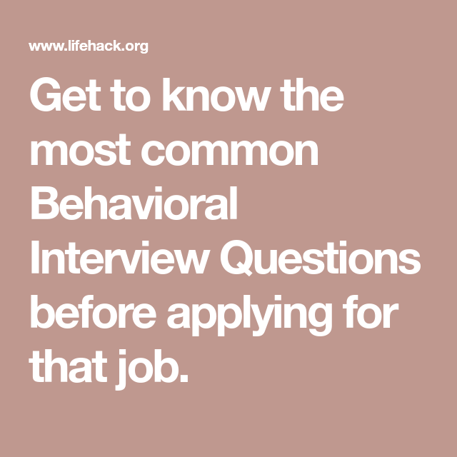 most common behavioral interview questions and answers