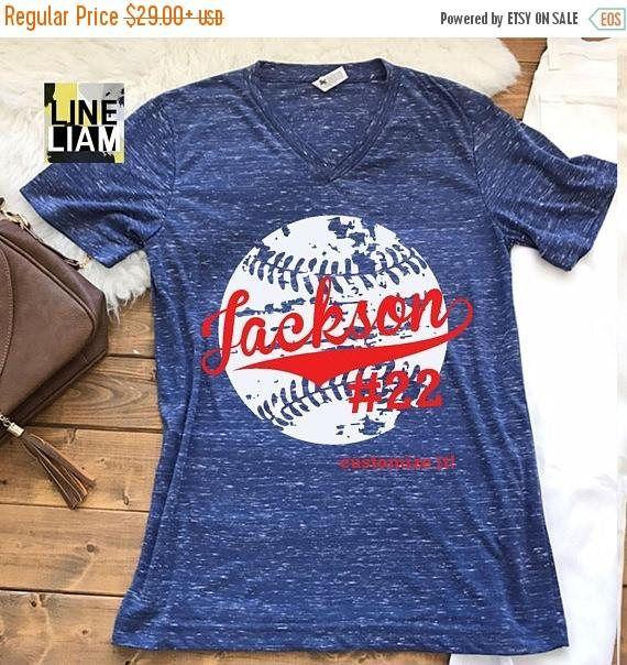 Photo of Baseball mom shirt, baseball tank top, baseball shirt, custom baseball shirt, distressed baseball shirt, baseball tank top, softball shirt