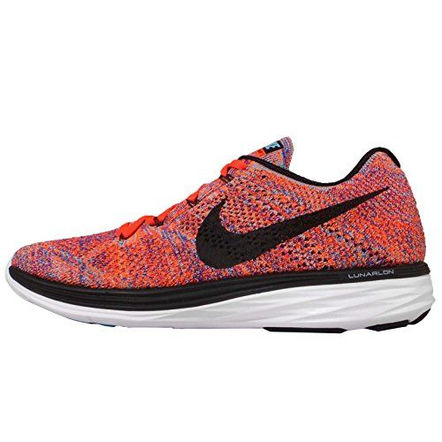 Nike Men's Flyknit Lunar3, CONCORD/BLACK-TOTAL CRIMSON-TO.