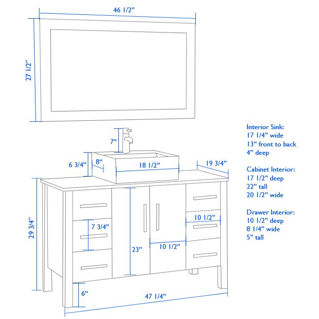 What Is The Standard Height Of A Bathroom Vanity Ehow Bathroom