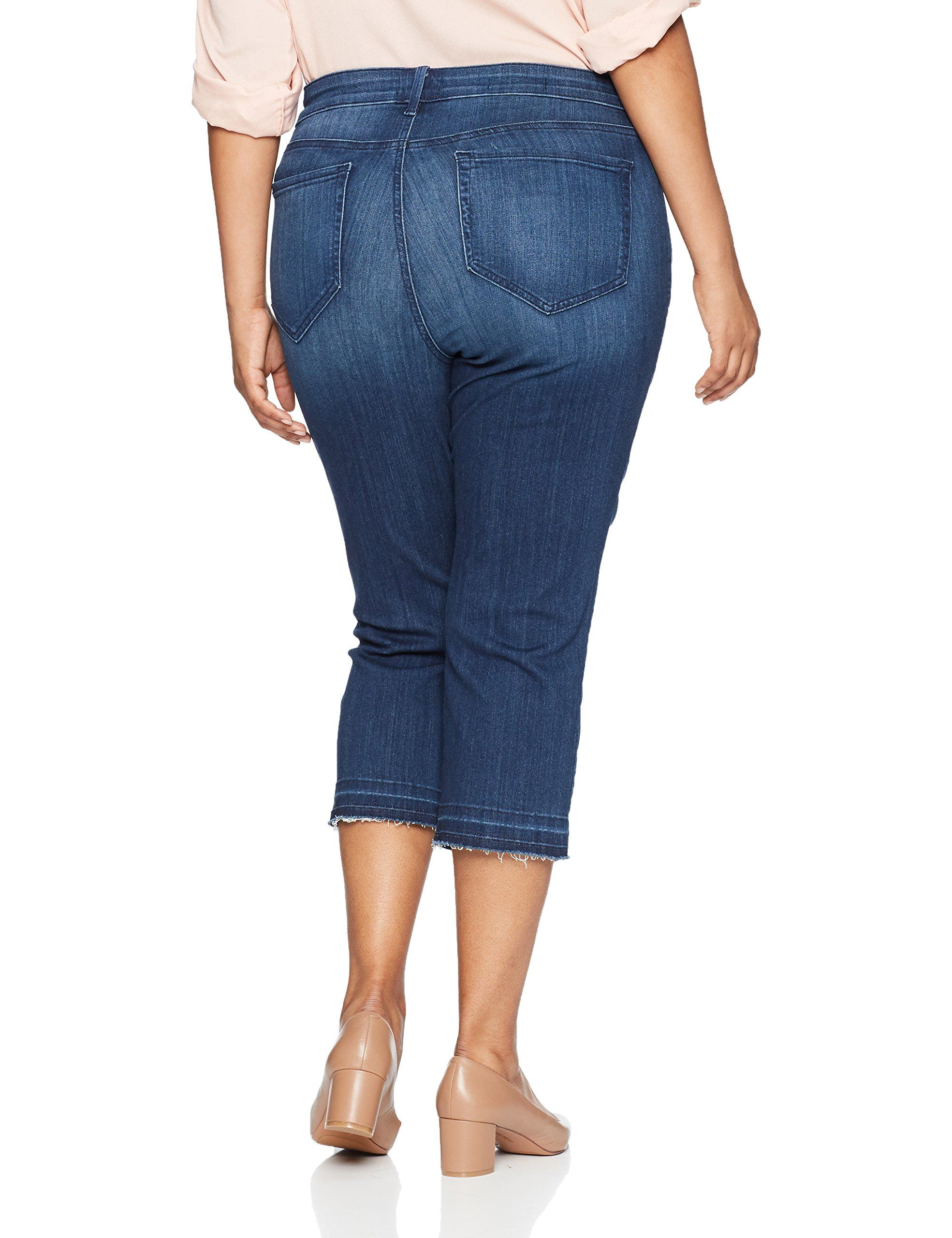 c329fbf3a00 NYDJ Womens Plus Size Capri with Released Hem Lark 18W     Check out this