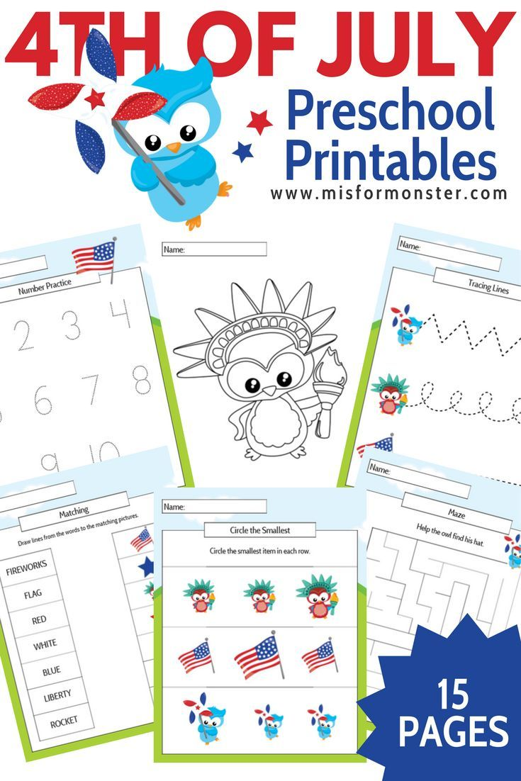 Free Fourth Of July Printable Activity Pack For Toddler Through Kindergarteners Preschool Activities Toddler Activities Art Activities For Toddlers [ 1102 x 735 Pixel ]