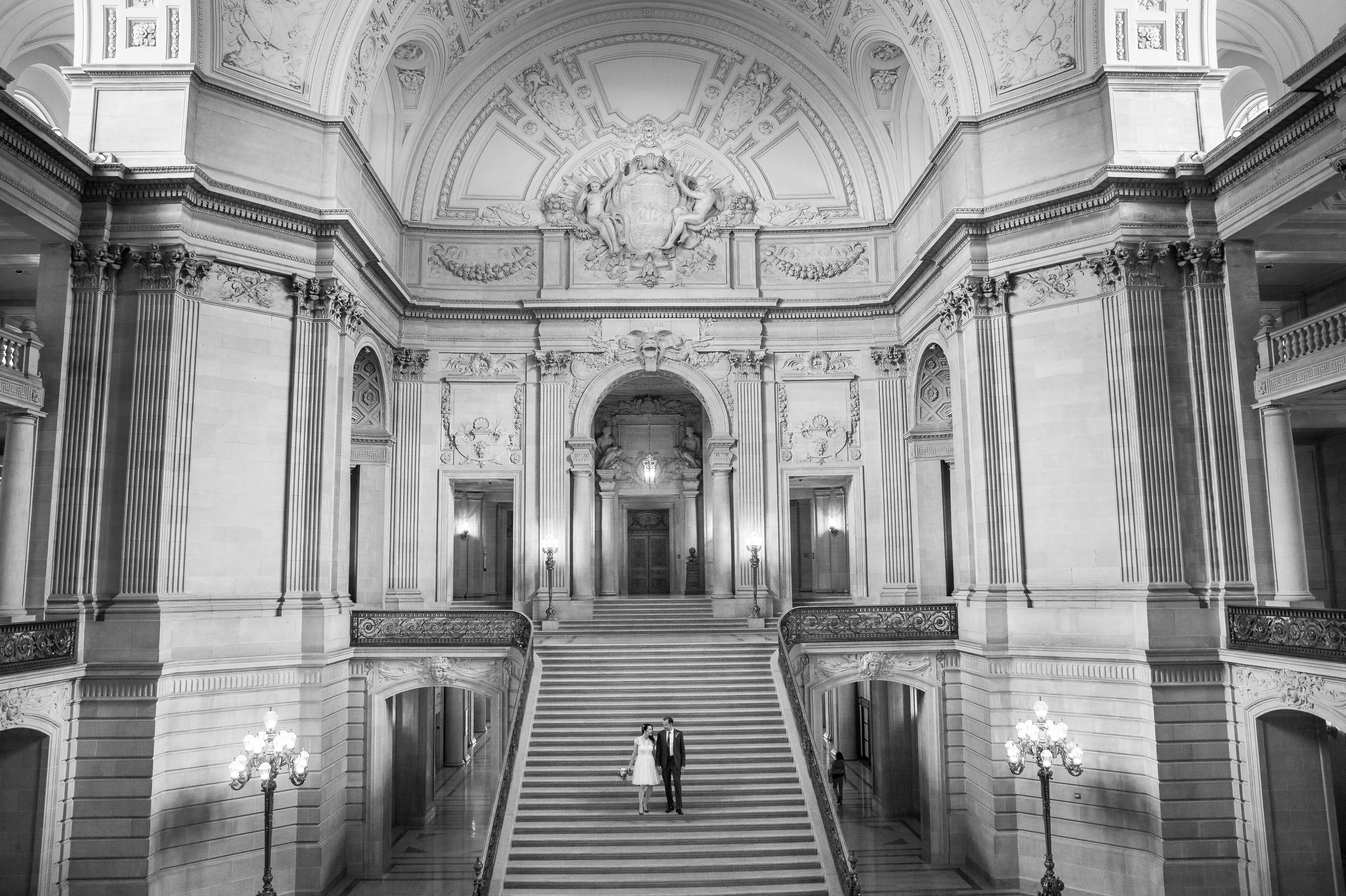 Sarah And Troy S Sf City Hall Wedding T J Salsman Photography Napa Valley