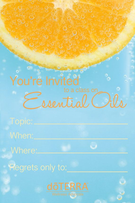 4X6 doTERRA class Invitation INSTANT DOWNLOAD by CrystalCoatney