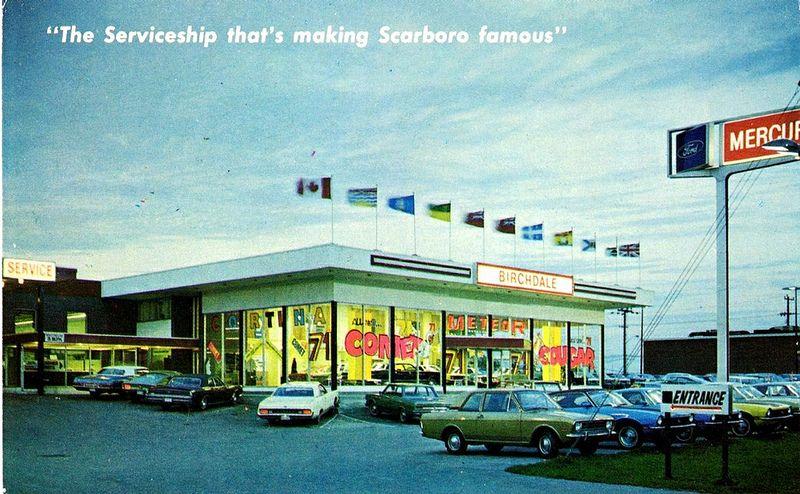 Birchdale Mercury Scarborough Ontario Canada 1971 Ford Motor