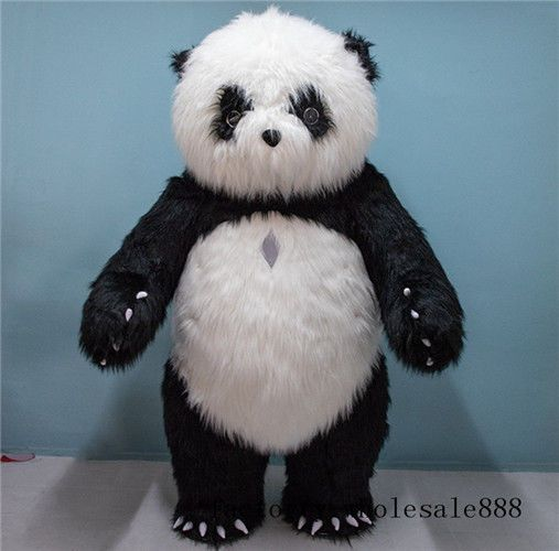 194efb70ab4 Inflatable Plush Chinese panda Bear Mascot Costume suits Adults Size dress  2m (eBay Link)