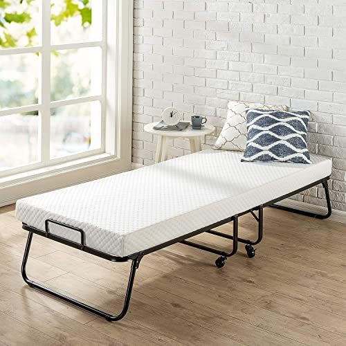 Best Seller Zinus Roll Away Folding Guest Bed Frame 4 Inch Comfort