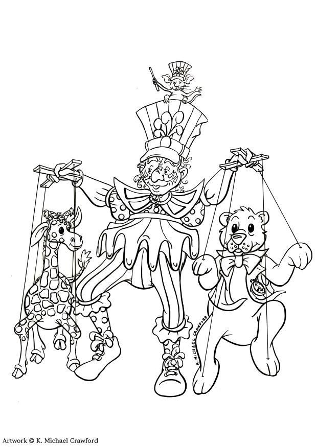theater coloring pages | coloring-page-puppet-show-dl7350 ...