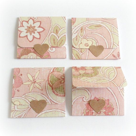 blank floral tri-fold style mini note cards by SweetCarolineCards
