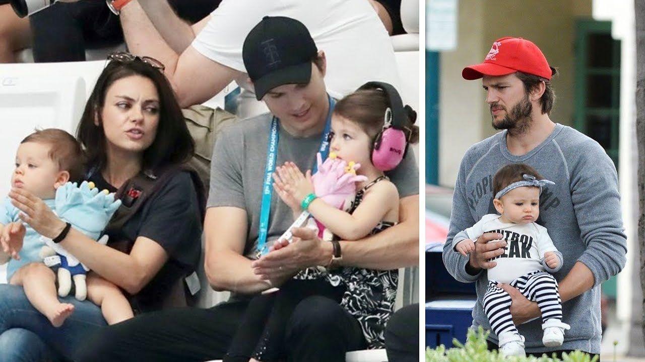 Mila Kunis Ashton Kutcher S Kids Wyatt Isabelle Dimitri