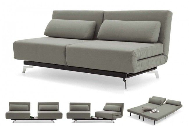 Apollo Grey Tweeds Convertible Sofa Bed Sleeper With 2 Matching