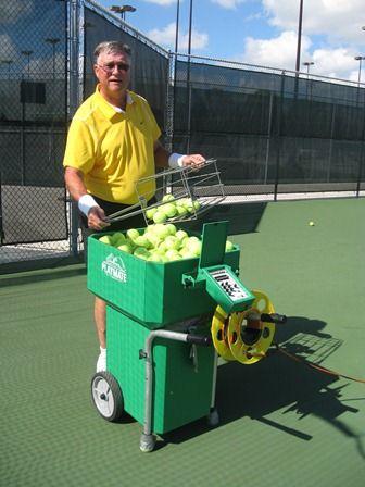 Choosing The Perfect Tennis Ball Machine Tennis Tennis Gear Tennis Racket