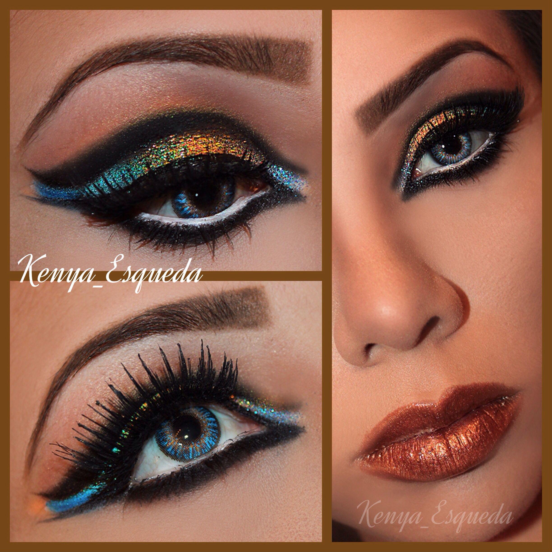 Egyptian Eye makeup Make up augen, Makeuptipps
