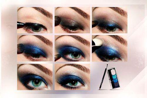 maquillaje para vestido azul marino - Buscar con Google