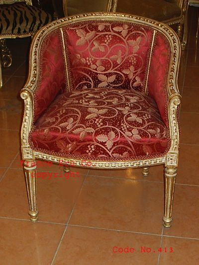 antique furniture | French Antique Louis XVI Bergere,This piece is  supported by fluted . - Antique Furniture French Antique Louis XVI Bergere,This Piece Is