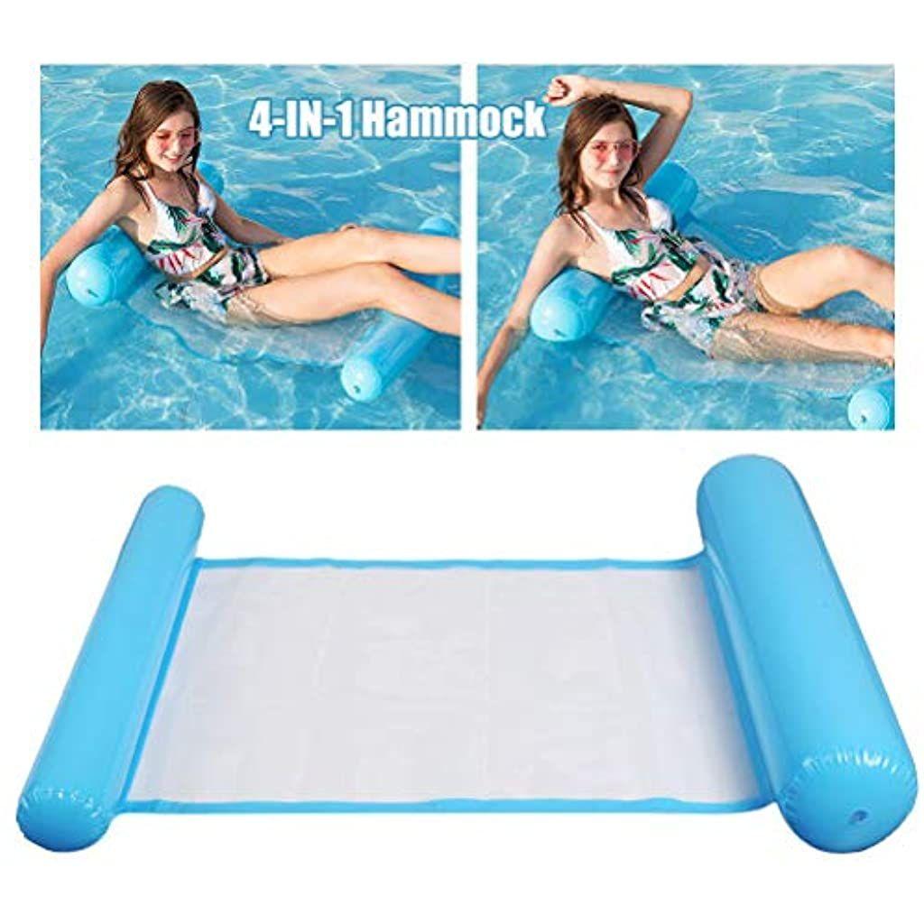 N Aufblasbares Schwimmbett Pool Wasser Hangematte Loungesessel Luftmatratze Home Chair Schwimmende Aufblasbare Kopf Und Tr In 2020 Luftmatratze Pool Wasser Aufblasbar