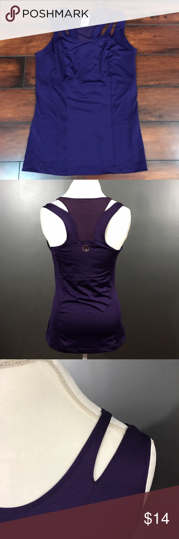 ZUMBA Wear Large Purple Active Tank Women's size large purple Zumba Wear workout tank with built in bra. 92% Polyester, 8% spandex. Great condition. Zumba Wear Tops Tank Tops