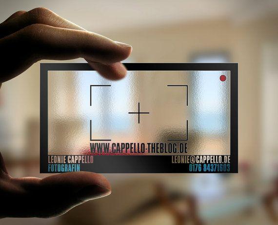 Transparente Visitenkarte Mit Sucher Fotografen