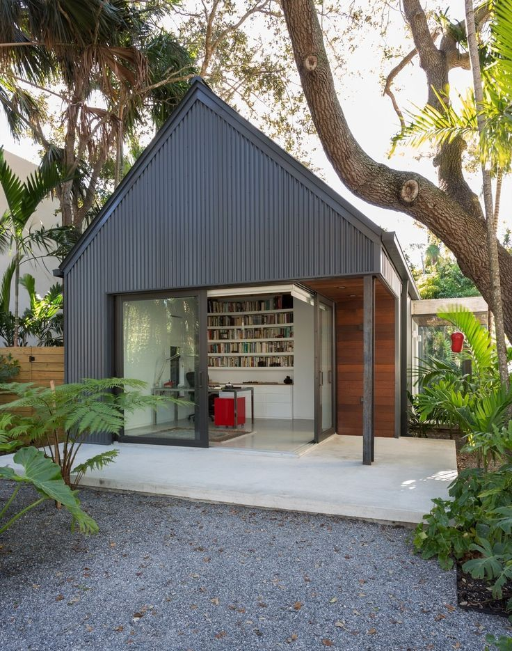 One Story Hip Roof Addition Ideas To Two Story Farmhouse: A Minimalist Bungalow In Miami Welcomes A Sleek New Addition In 2020