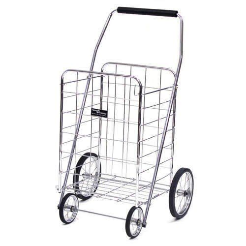 "Jumbo Folding Shopping Cart - Chrome (Chrome Cart) (41.75""h x 24""w x 21""d (cart size)) Narita Trading http://www.amazon.com/dp/B001EBO8QG/ref=cm_sw_r_pi_dp_MHx3tb1BGSS74YNN"