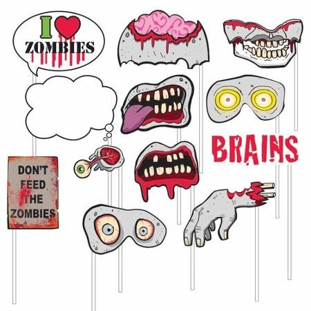 photo booth props zombies 12pk - Zombie Props