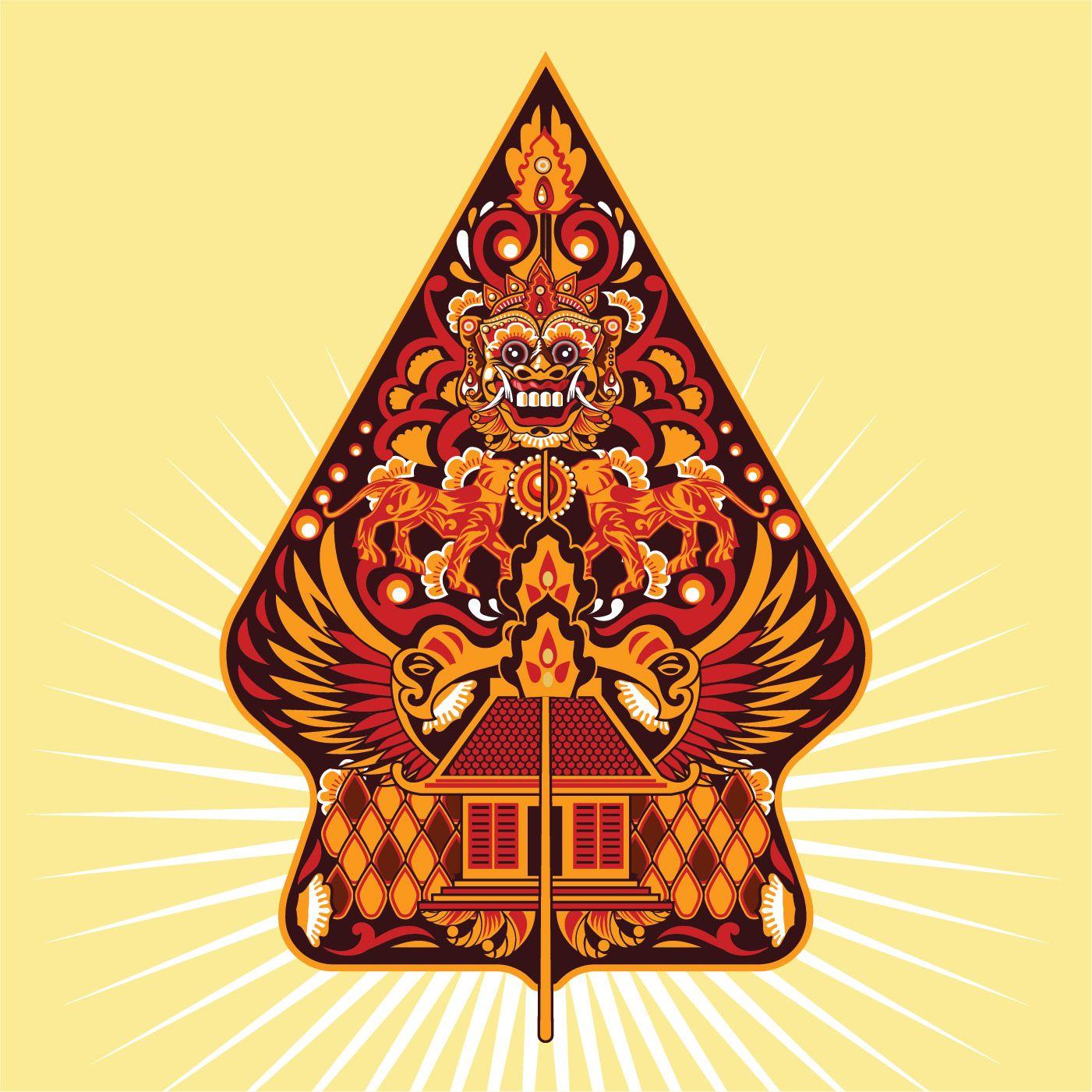 Vektor Fargglada Gunungan Wayang Javanese I Indonesien Seni Tradisional Sejarah Seni Seni Digital