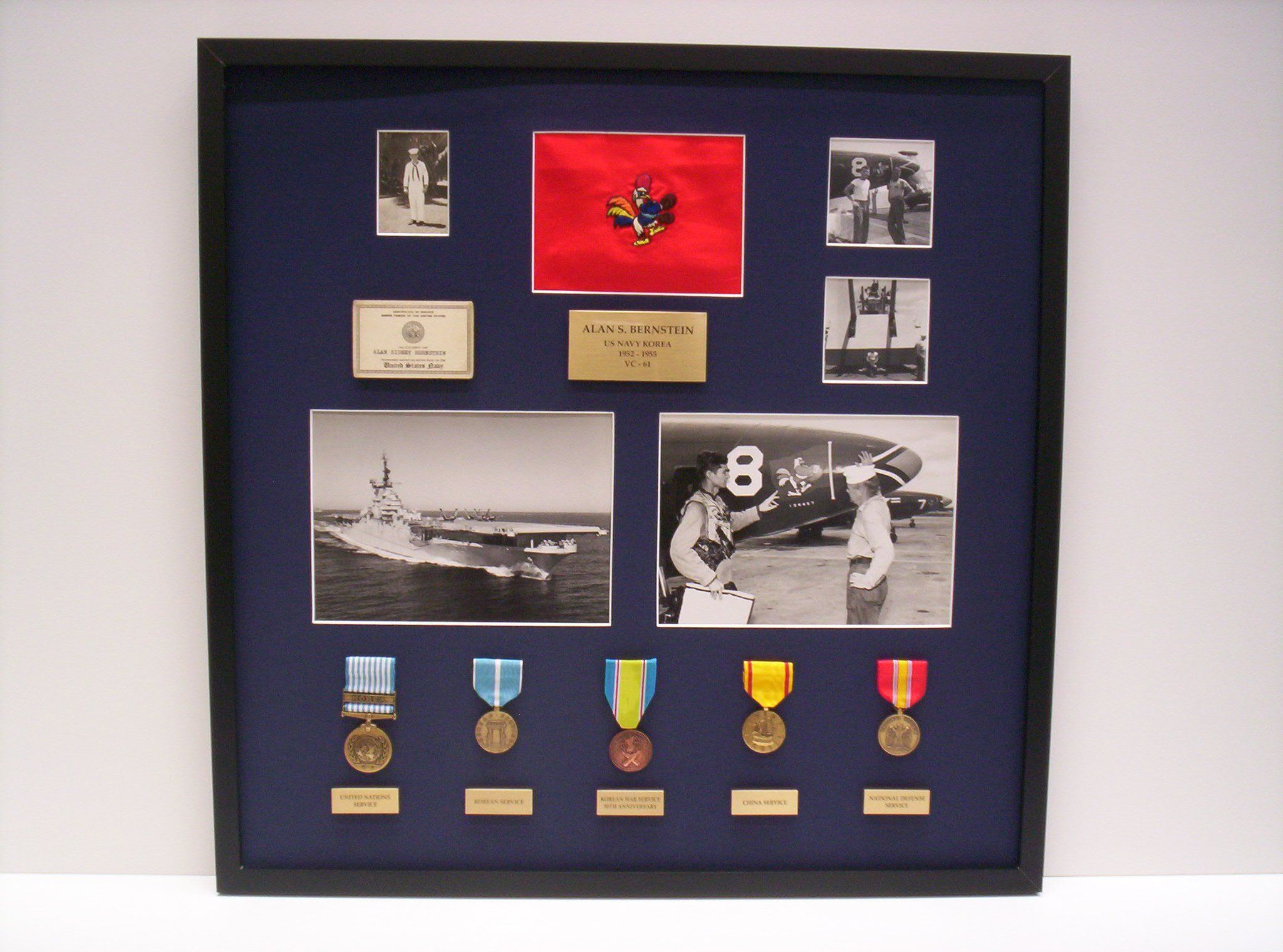 Korean War Memorabilia in a custom shadowbox display #display #frame