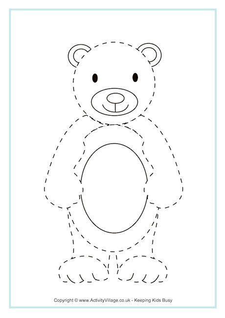 Bear Tracing Page …   Pinteres…