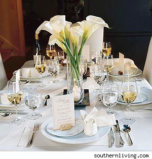 For A Table That Makes A Statement, Set It With A Single Color. The Food  Will Take Centerstage On This All White Table. White Linens And Candles  Pair ...