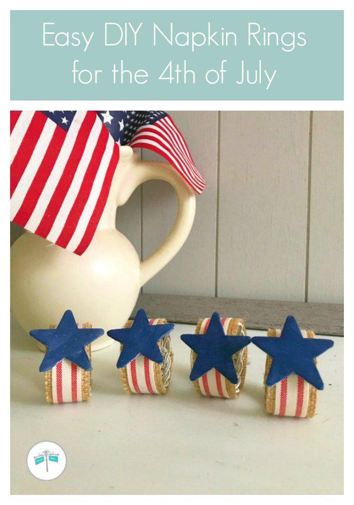 Easy DIY 4th of July Napkin Rings | Across the Blvd