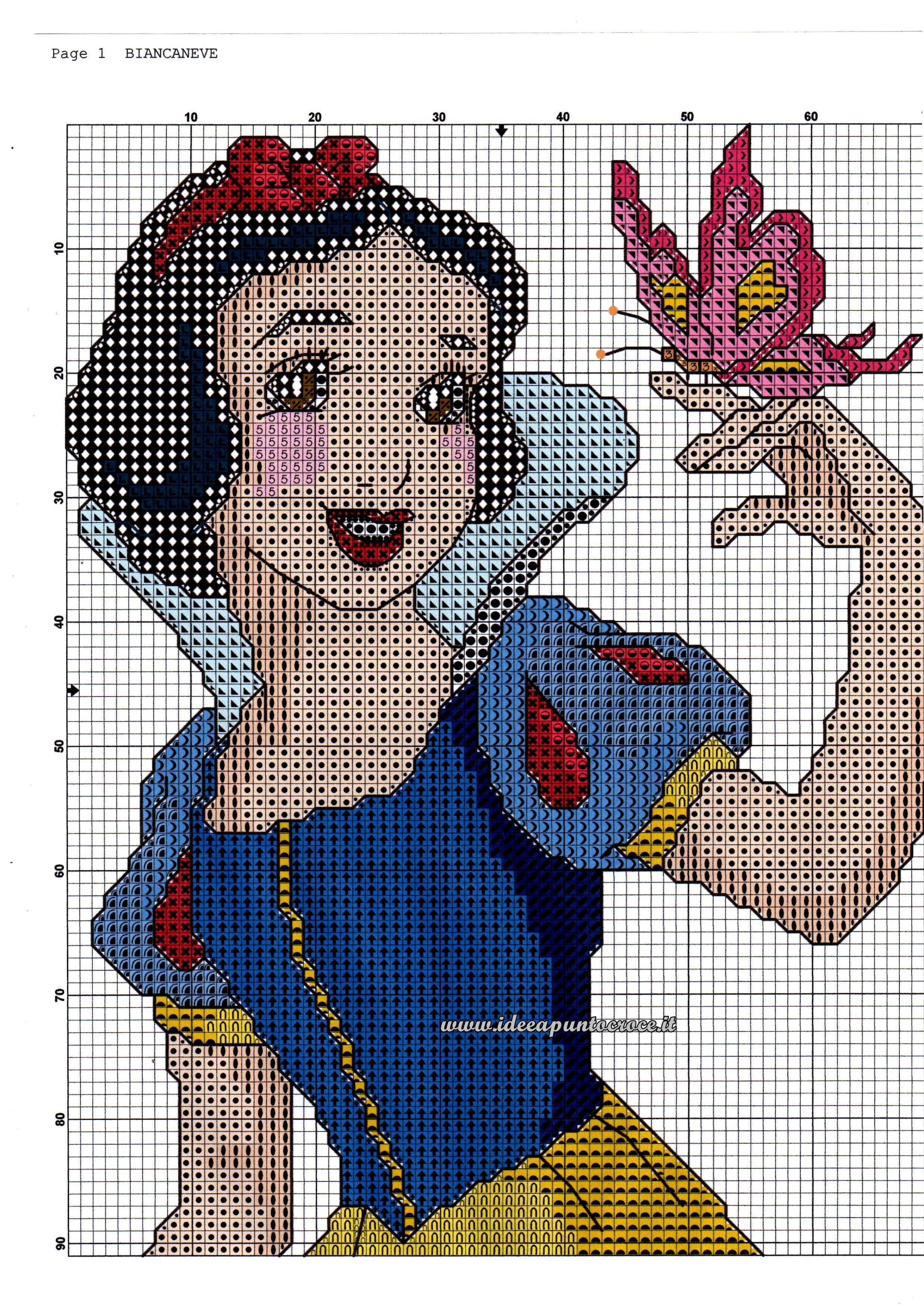 Snow White w/ butterfly 1 of 2