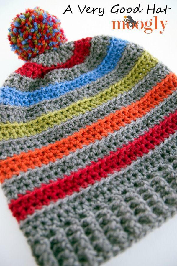 A Very Good Hat  Free  crochet pattern in 6 sizes on Moogly! ddc3e27f43f