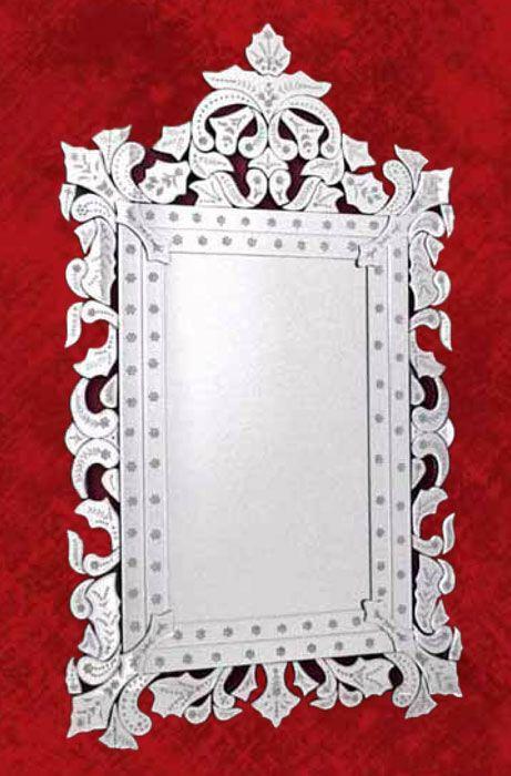 Espejo marco de cristal estilo rococo para ambientes clásicos y ...