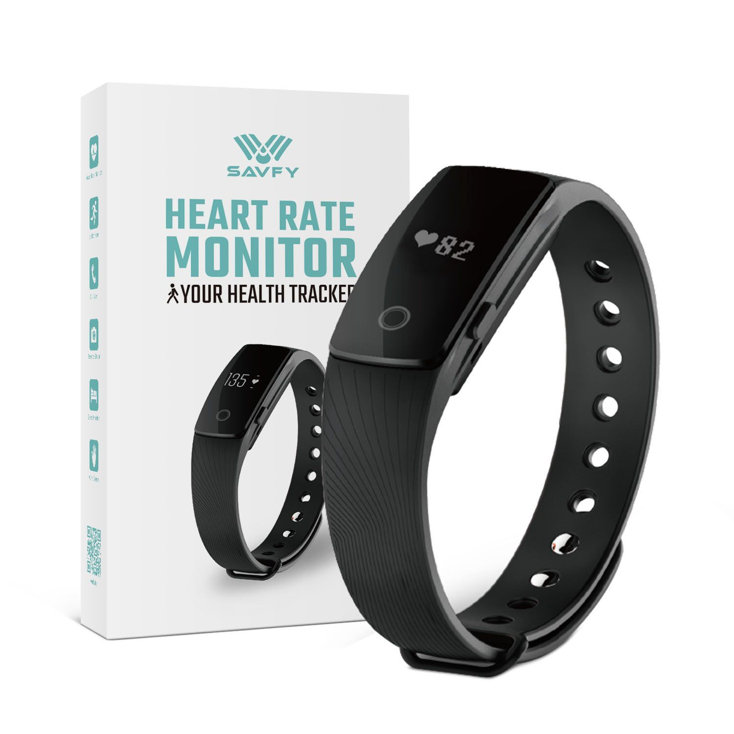 BLUETOOTH HEART RATE MONITOR BRACELET/PEDOMETER FITNESS