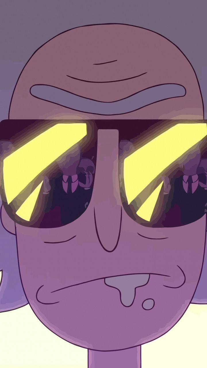 Rick and morty, Rick Sanchez, tv series, sunglasses, 720x1280 wallpaper