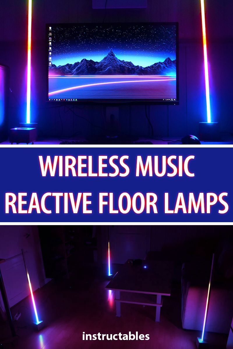 Wireless Music Reactive Floor Lamps | LEDs | Wireless speakers, Diy