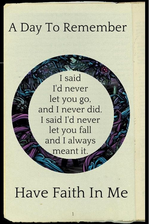 A Day To Remember Have Faith In Me A Day To Remember Band