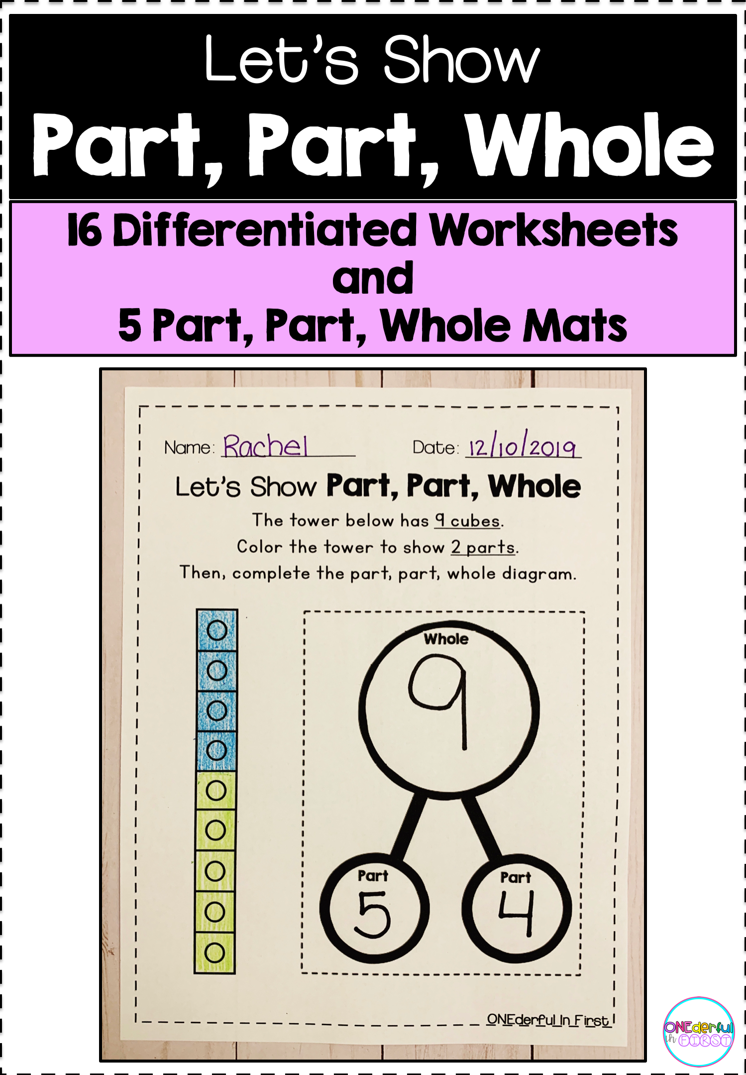 Part Part Whole Worksheets 16 Differentiated Worksheets