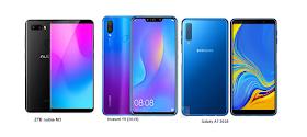 Tspn1 Huawei Y9 2019 Vs Zte Nubia M3 Vs Samsung Galaxy A7 2018 Comparisons Samsung Galaxy Samsung Huawei