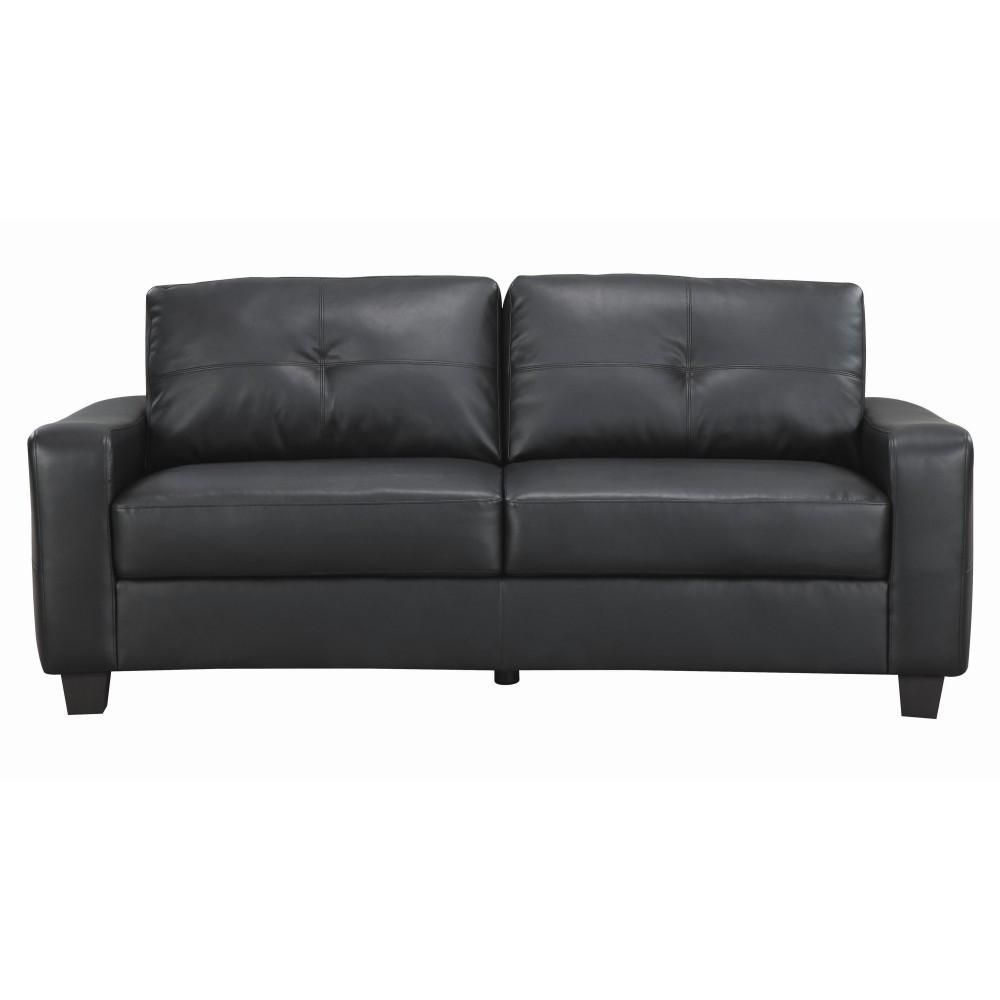 Premium Deluxe Leather Sofa Black Leather Sofa Black Leather