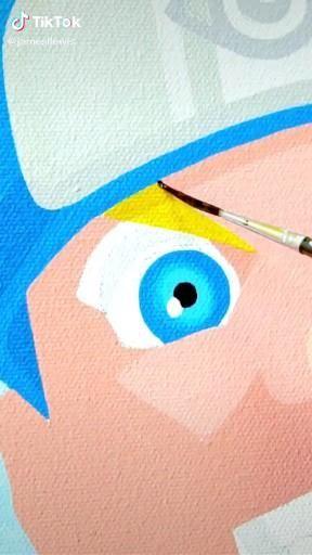 Photo of Naruto Uzumaki Canvas Painting  Artist: jamesllewis from TikTok