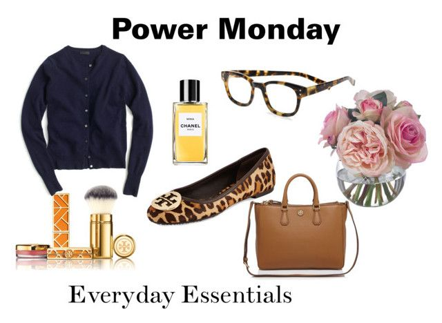 Power Monday by ivy-deleon-design on Polyvore featuring beauty, Tory Burch, eyebobs, J.Crew and Diane James