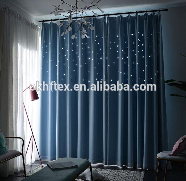 Égyptien rideaux tissé tissu coloré prinitng fenêtre rideau - store occultant porte fenetre