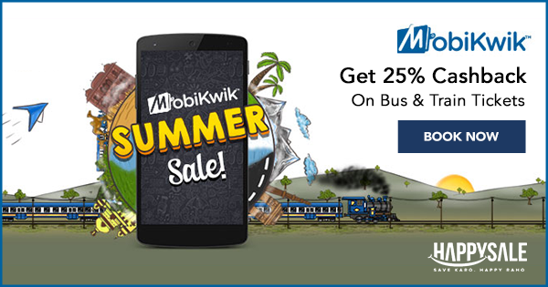 Now use MobiKwik to book your tickets online, and get