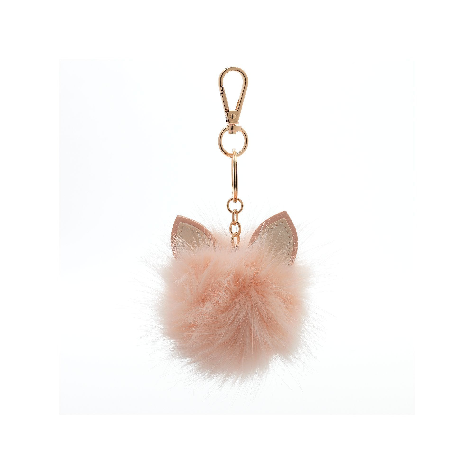LC Lauren Conrad Cat Ear Faux Fur Pom Pom Key Chain  67eed82b66